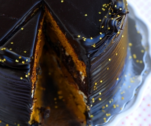 cake, chocolate, and pumpkin image