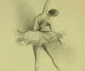 art, ballerina, and dance image
