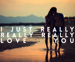 you, love, and beach image