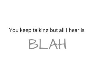 blah and talk image