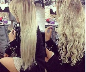 hair, blonde, and straight image