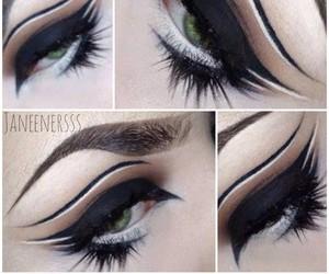 Black Eyeliner, gothic, and makeup image