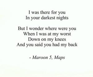 maps, maroon 5, and Lyrics image