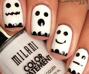 nails, Halloween, and ghost image
