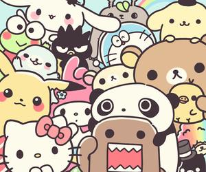 kawaii, pikachu, and hello kitty image