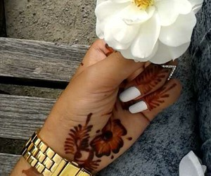henna, nails, and oriental image