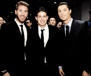 real madrid, cristiano ronaldo, and sergio ramos image