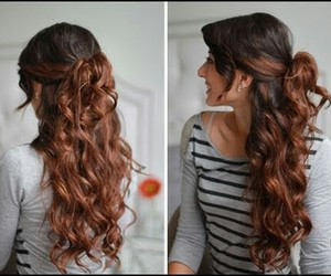 curl, style, and hair image