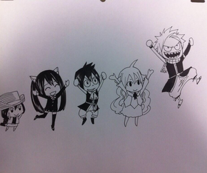 anime, drawing, and fairy tail image