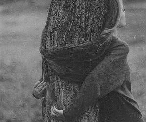 girl, hair, and tree image