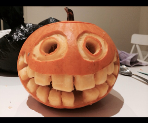 carving, Halloween, and pumkin image