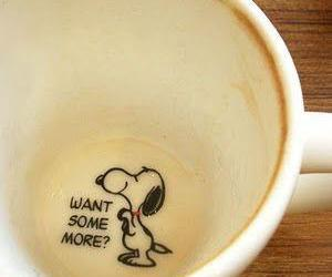 snoopy, coffee, and cup image