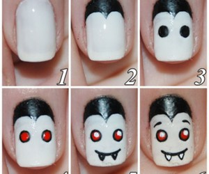 nails, Halloween, and vampire image