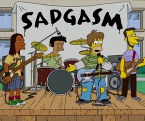 grunge, the simpsons, and sadgasm image
