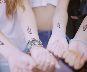 tattoo, feather, and friends image