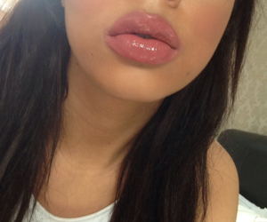 lips, girl, and lipstick image