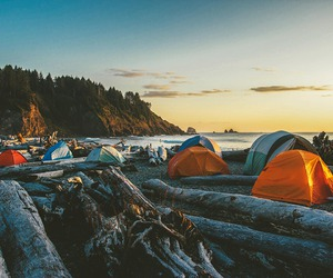 camping, nature, and adventure image