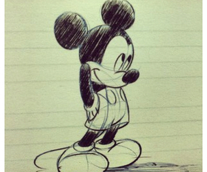 drawing, mickey, and disney image