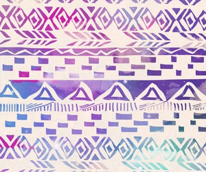wallpaper, aztec, and blue image