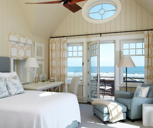 bedroom, beach, and home image