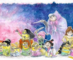 minions, disney, and princess image