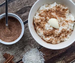 danish, rice pudding, and dessert image