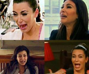 crying, kim kardashian, and cry image