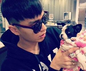 dog, simon d, and mine! image