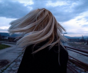 beautiful, wind, and girl image