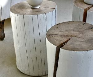 wood and white image