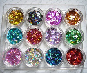 glitter, stars, and colors image
