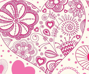 floral, heart, and wallpapers image