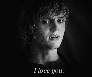 american horror story, I Love You, and tate image
