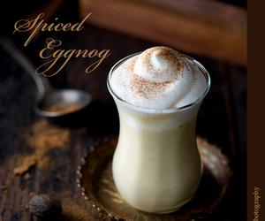 christmas, eggnog, and drinks image