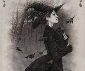 witch, art, and victoria frances image