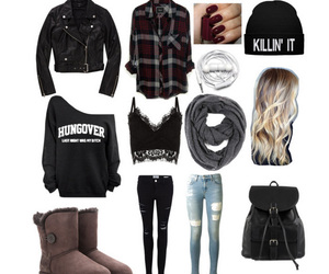 autumn, hangover, and Polyvore image