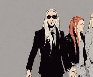 fanart, Legolas, and thranduil image