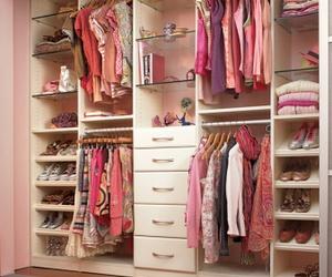 bedroom, heels, and pink image