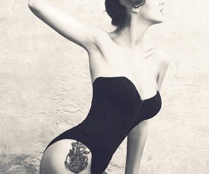 rose, girl, and tattoo image