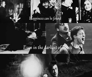 black, happiness, and harry potter image
