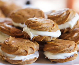 Cookies, pumpkin, and cream cheese image