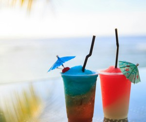 summer, colorful, and drink image