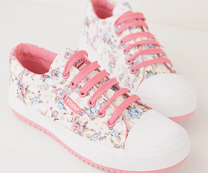 shoes, pink, and flowers image