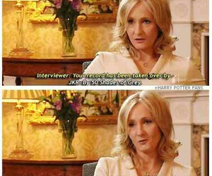 harry potter, funny, and jk rowling image