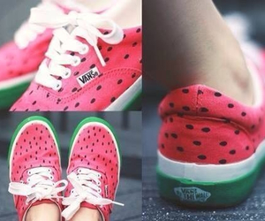 vans, watermelon, and shoes image