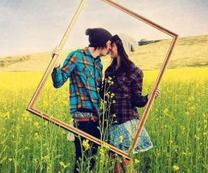 color, couple, and frame image