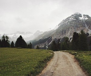mountains, nature, and path image