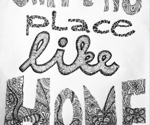 doodle, drawing, and home image