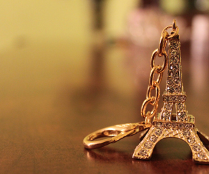 paris, eiffel tower, and gold image