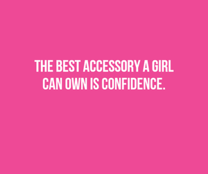 pink, quote, and confidence image